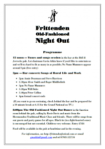 Frittenden Old Fashioned Night Out programme image